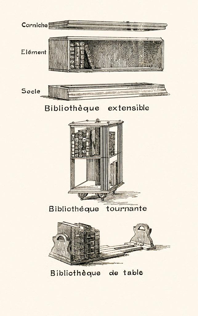 Albert cim petit manuel de l amateur de livres 1923 for Table extensible tournante